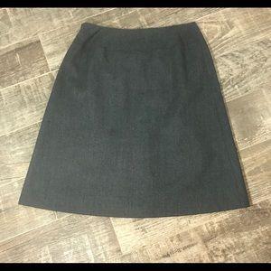 Talbot's Petites Wool skirt gray size 10P